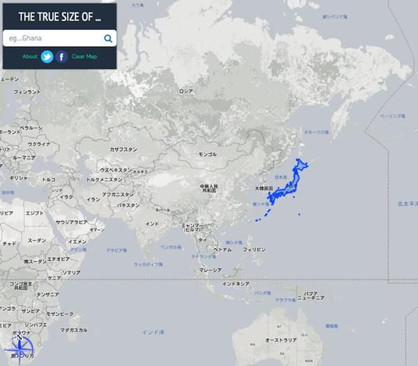 基準になる国が青く囲まれる