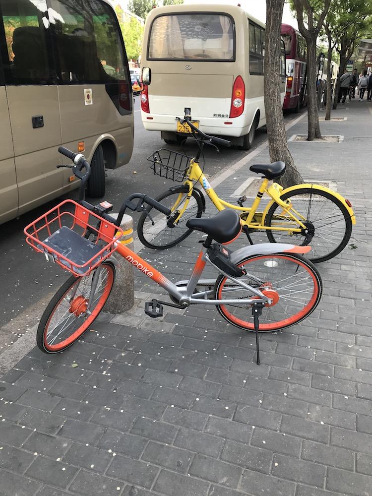 北京で街中のどこでも利用できる「レンタル自転車」