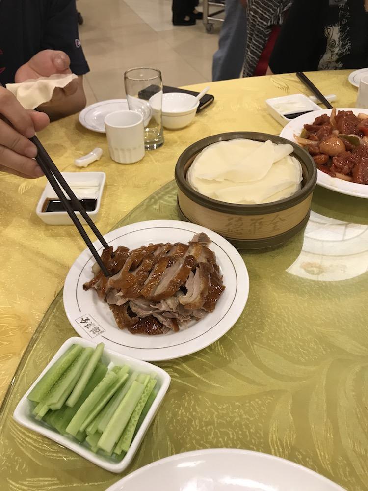 北京で食べた北京ダック