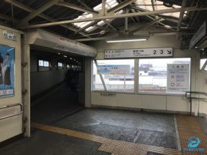 亀山行きは3番ホーム